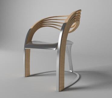 Chaise design Elaxa de Velichko Velikov
