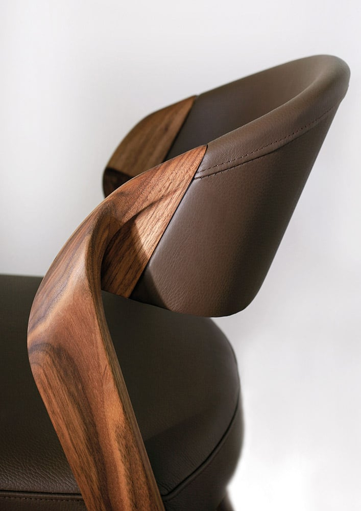 designer spin chair by martin ballendat in walnut. Black Bedroom Furniture Sets. Home Design Ideas