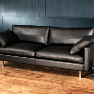 Scandinavian leather sofa
