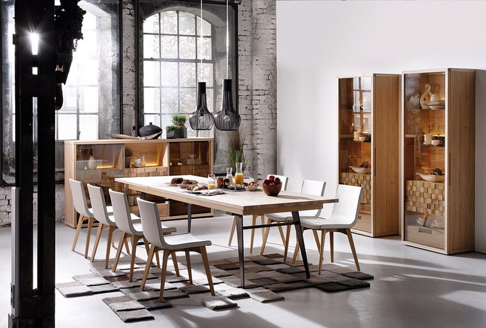German design chair with leather and wooden legs