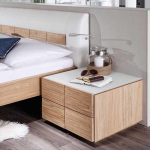 Designer oak nightstand