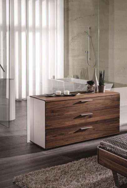 Commode design en noyer