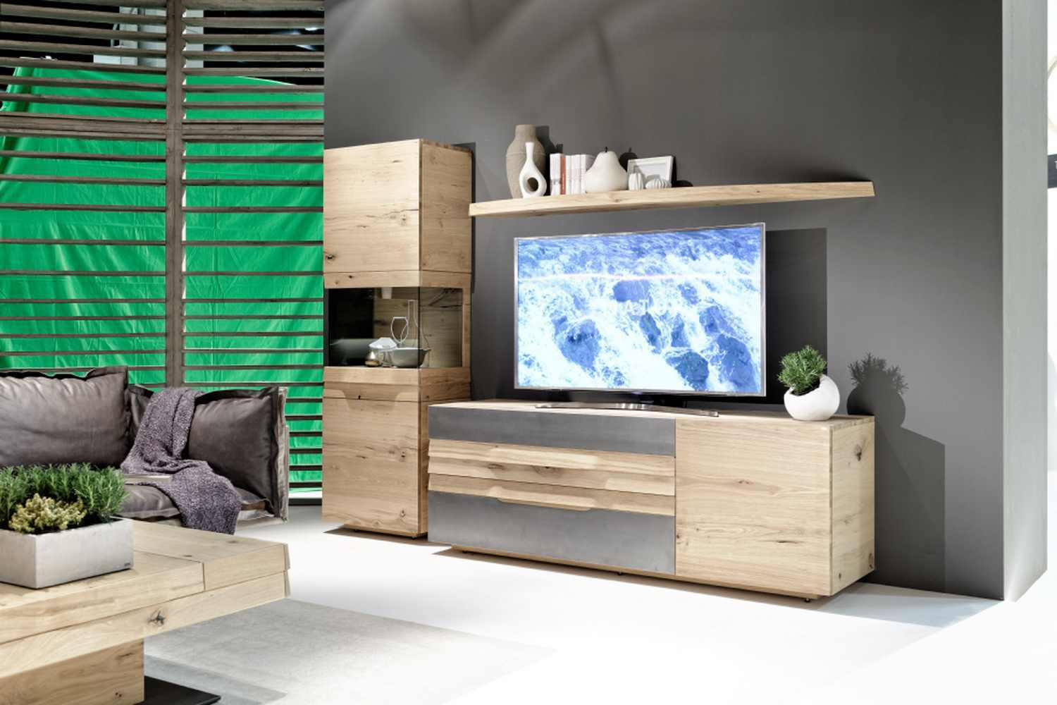 Table De Television Cool South Shore City Life Corner Tv Stand  # Meuble Tv Pivotant Design
