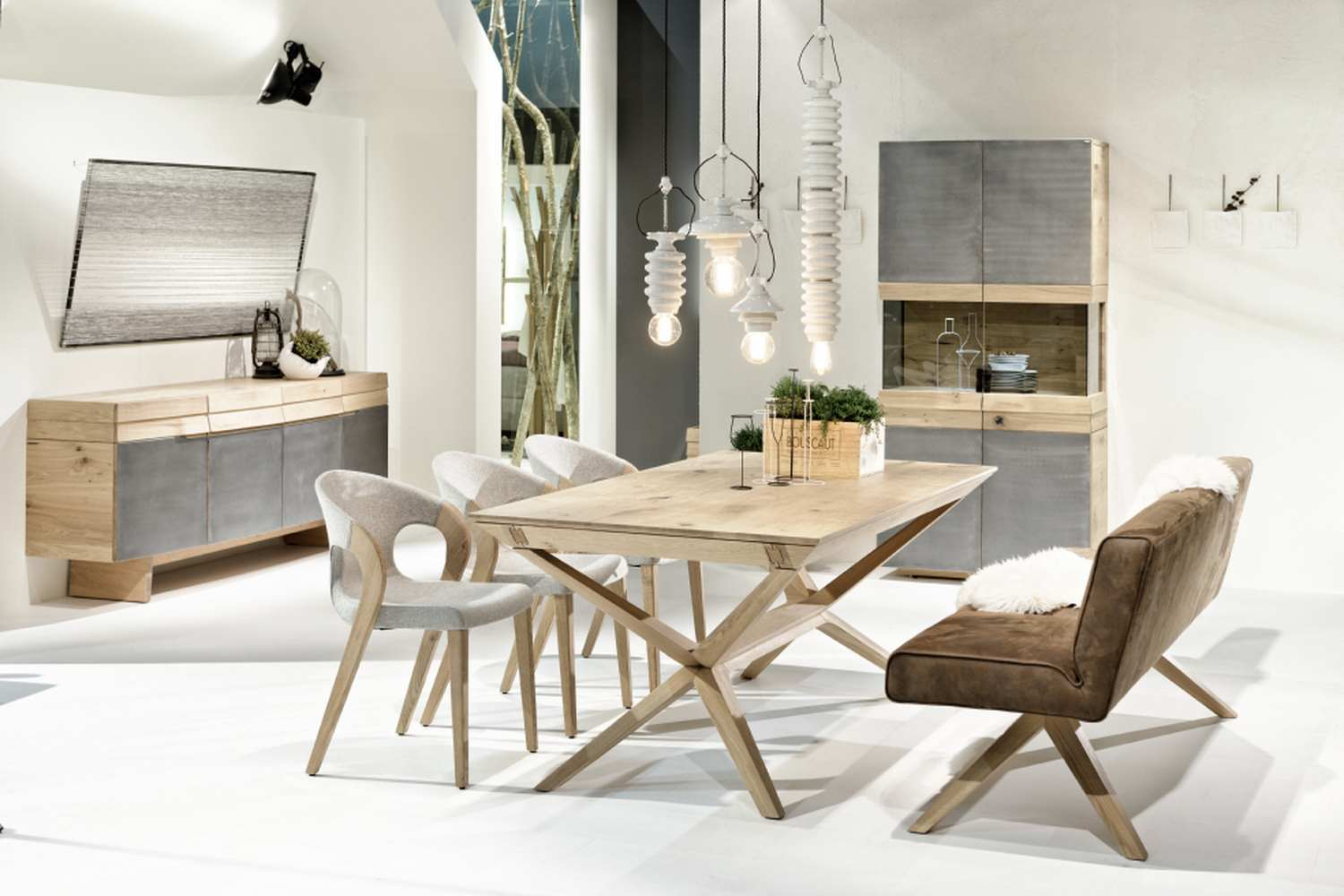 Organo dining table oak german design for A table en allemand