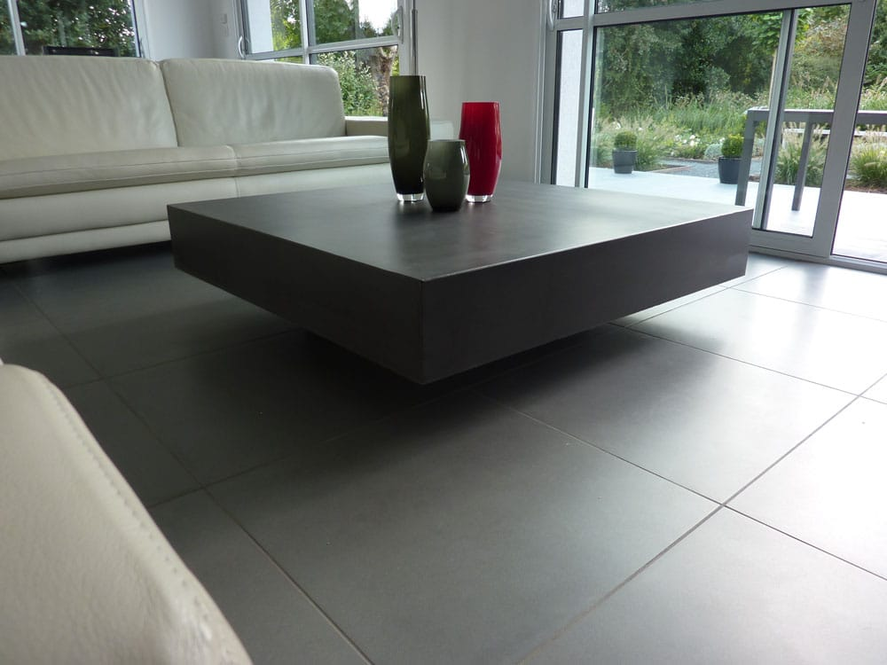 Designer concrete table for Table basse design nordique