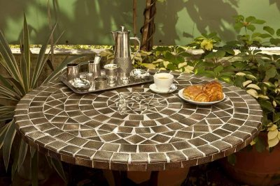 Cosmic brown mosaic table