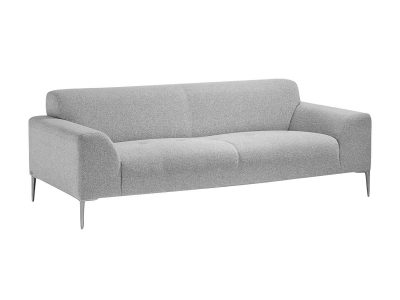 Light grey fabric designer sofa made in France 2